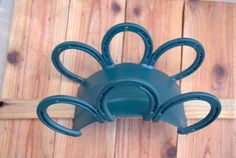 Custom wall mount garden hose hanger, holder, horseshoes, heavy duty for barn, ranch, shed, out building, Made To Order