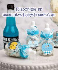 Recuerdos para Baby Shower - Dulcero Biberón Azul, Mamila Azul - Disponible en www.pkts-babyshower.com