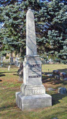 Michigan Governor Rich Headstone, Mount Hope Cemetery, Lapeer, MI