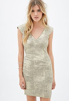 Heathered Metallic Bodycon Dress | FOREVER21 - 2000117436