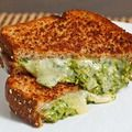 Spinach Pesto Grilled Cheese Sandwich. I could totally eat this.