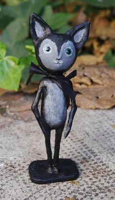 Muñeco artístico Brais el niño gato. Figura de por Villaoscura