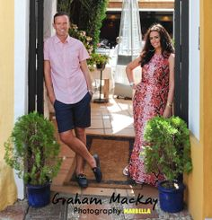 Scottish lass Vicki married Keiran in the Spanish sun of Oranage Square in Marbella. This is a pre wedding shot a few days before the big day.