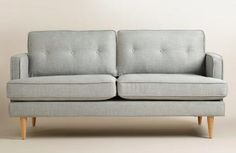 World Market has some great sales going on right now, including an extra 10% off (sale items too) + free shipping! I am loving this mid-century inspired gray sofa. It is on sale for $499.00 plus 10 %
