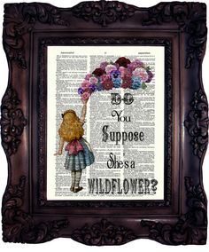 Alice in Wonderland Decoration. Alice in by OldStyleDesign on Etsy