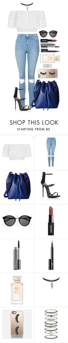 """Untitled #1537"" by fabianarveloc on Polyvore featuring Miguelina, Topshop, Gabriella Rocha, Giuseppe Zanotti, Yves Saint Laurent, MAC Cosmetics, NARS Cosmetics, Tory Burch, Casetify and Accessorize"