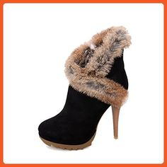 Women's Chains Round Closed Toe High-Heels Blend Materials Low-top Boots