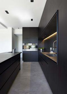 Modern black kitchen cabinets Top 10 Kitchen An Ultra Modern Dark Kitchen Wwwchossechicom Modern Kitchens With Islands Freshomecom 24 Best Dark Kitchen Ideas Images Modern Kitchens Small Kitchens