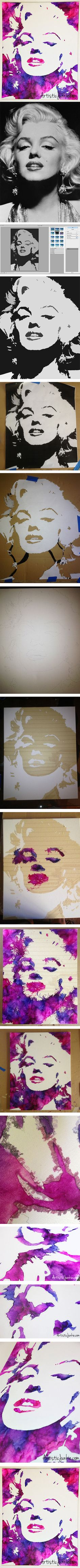 Marilyn Monroe Melted Crayon Art Tutorial