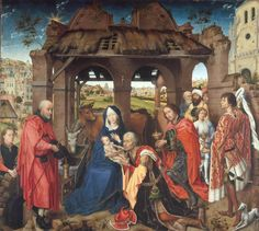 ❤ - ROGIER VAN DER WEYDEN (1400 - 1464) - Saint Columba, altarpiece - Central panel.
