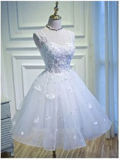 Prom Dress Short, Prom Dress White, Sexy Prom Dress, Prom Dress With Appliques, A-Line Prom Dress Short Homecoming Dresses Junior Homecoming Dresses, A Line Prom Dresses, Prom Dresses Online, Evening Dresses, Short Dresses, Wedding Dresses, Dress Prom, Prom Gowns, Sexy Dresses