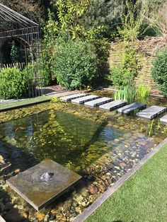 40 beautiful Japanese fish pond design for garden design - backyard landscaping - pond design Garden Garden backyard Garden design Garden ideas Garden plants Garden Pond Design, Japanese Garden Design, Japanese Garden Backyard, Japan Garden, Japanese Landscape, Landscape Bricks, Back Gardens, Outdoor Gardens, Fish Pond Gardens