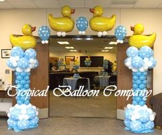 rubber ducky baby shower decorations - Come on Cindy...I know you can do this! LOL! ;)