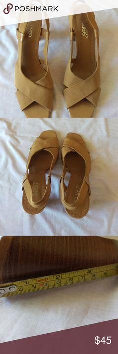 75e6b6e63f8 Franco Sarto nude sandals Franco Sarto nude sandals stretchy material to  easily slide your feet into