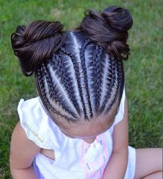 For when I am feeling super motivated. For when I am feeling super motivated. Cute Hairstyles For Kids, Baby Girl Hairstyles, Kids Braided Hairstyles, Box Braids Hairstyles, Creative Hairstyles, Braids For Kids, Girls Braids, Curly Hair Styles, Natural Hair Styles