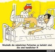 Weshalb die männlichen Patienten so beliebt sind..   Lustige Bilder, Sprüche, Witze, echt lustig