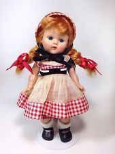 Early 50's Strung Vogue GINNY Doll with RED Braids, Painted Lashes And Blue Eyes