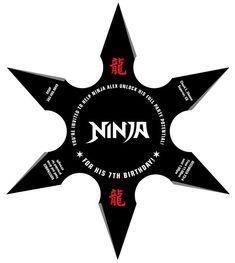 Fiesta de cumpleaños de Ninja lanzando por lanodesignstudio en Etsy