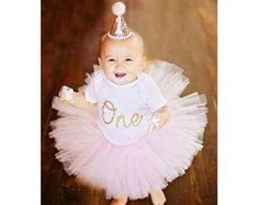 First Birthday Outfit Girl Cake Smash Outfit Girl Pink and Cake Smash Outfit Girl, Carters Just One You, First Birthday Outfit Girl, Pink Tutu, Glitter Cards, Birthday Cake Toppers, Party Hats, Pink Girl, Pink And Gold