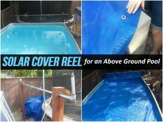 Solar Cover Reel For An Above Ground Pool