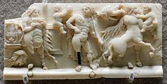 Casket plate with mythological scenes
