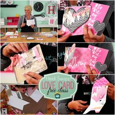 My Craft Channel: Mar. 19th: Cute Clipboards Craft Tip, Heidi Swapp's Free Love Card Class, 18 Re-usable Chalkboard Art Sheets + Bonus