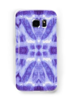 Hand crafted Boho Tie-Dye on Silk in Violet made into a pattern • Also buy this artwork on phone cases, apparel, stickers, and more.