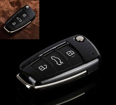 NEW Remote Key 3BTN Fob Cover Holder Bag Skin For Audi TT A3 A4 A6 Q7 R8 RS4 S6 #Budgettank
