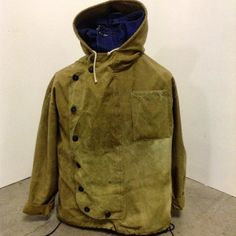"jeanfivintage:  ""THE TANKER SMOCK"". Cotton : canvas. 9 button / hidden zip / drawstring pull at waist. Going into production  #uniontrade #union6 by rugged216 http://ift.tt/1oaKnpN"