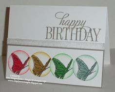 Simply Sara Stampin': Clean and Simple Birthday with 2015-2017 In Colors