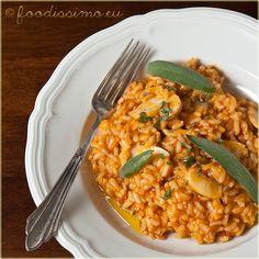 Risotto troch chutí - rajčina, šampiňón, pancetta Risotto, Curry, Ethnic Recipes, Fit, Curries, Shape