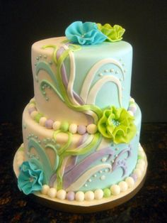 Two-tone 60th Birthday - but could be done as a wedding cake