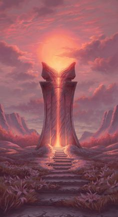 Fantasy Art Landscapes, Fantasy Landscape, Fantasy Artwork, Fantasy Drawings, Dungeons And Dragons Homebrew, Fantasy Places, Environment Concept Art, Environmental Art, Ancient Aliens