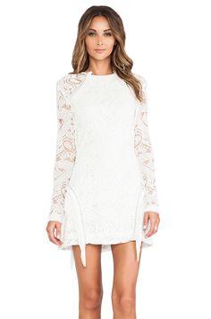 Alexis Darya Fringe Detail Dress in White Lace #REVOLVEclothing