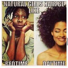 natural hair meme