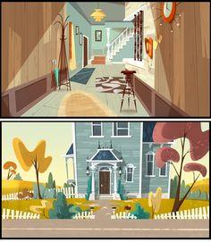 Arte do seriado Jamie's Got Tentacles! | THECAB - The Concept Art Blog