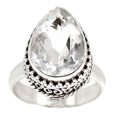 White-Topaz-925-Sterling-Silver-Ring-Jewelry-s-7-SR178741