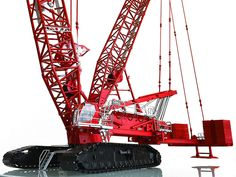 Manitowoc Lattice-Boom Crawler Crane with VPC fully configurable replica with and without VPC Max and backmast fully functional boom with loadblock fully functional Variable Postioning Counterweight with estimated 5 of Crane Construction, Crawler Crane, Pre Production, Diecast Models, Golden Gate Bridge, Scale Models, The Incredibles, Ebay, Motivational