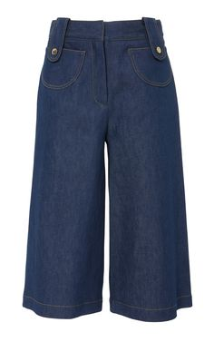 Denim Culottes by DEREK LAM Now Available on Moda Operandi