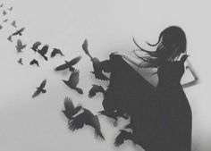Image about girl in . by Ana on We Heart It Wattpad, Tumblr Drawings, Bird Free, Raven Queen, Crows Ravens, White Aesthetic, Erotica, Find Image, We Heart It