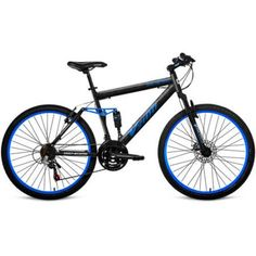 26 inch Genesis V2100 Men's Mountain Bike with Full Suspension, Available in 4 Colors, Blue