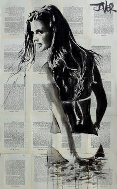 Loui Jover Debbye Reis Collection Dessin Art t Art Portrait Art, Portraits, Art Sketches, Art Drawings, Newspaper Art, Drawn Art, Arte Pop, Human Art, Erotic Art