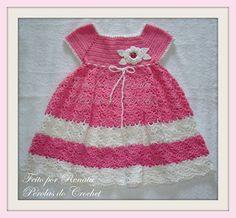 * Pérolas do Crochet: Vestidinho de croche fácil com passo-a-passo