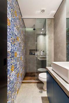 Ванные комнаты в translation missing: ru.style.Ванные-комнаты.modern. Автор - Casa100 Arquitetura