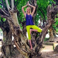 Solid Lime Yoga Capri Leggings