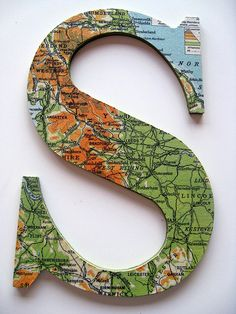 map letters. <3 <---- my school room is themed after maps! <3