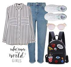 """Grl pwr"" by lerazhihareva on Polyvore featuring мода, Miss Selfridge, MANGO, adidas и Le Specs"