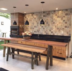 Tiny House Living, Home And Living, Built In Braai, Dirty Kitchen, Patio Tiles, Modern Kitchen Interiors, Kitchen Room Design, Home Kitchens, House Plans