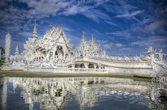 Wat Rong Khun or The White Temple is a Buddhist temple located in Northern Thailand