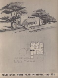 Northwest homes, folio no. Vintage House Plans, Modern House Plans, Southern Porches, House Fan, Architecture Plan, Mid Century House, Old Houses, Tiny Houses, Midcentury Modern